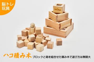 脳トレ玩具「ハコ積み木」